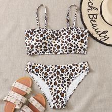 Leopard Cami Bikini Swimsuit