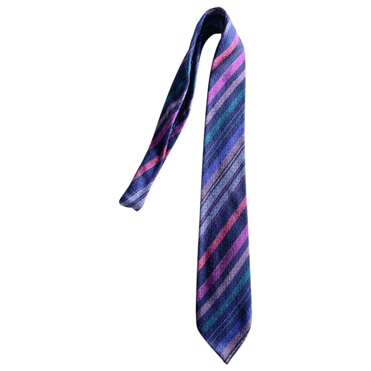 Missoni - Cravates   pour homme en laine - multicolore