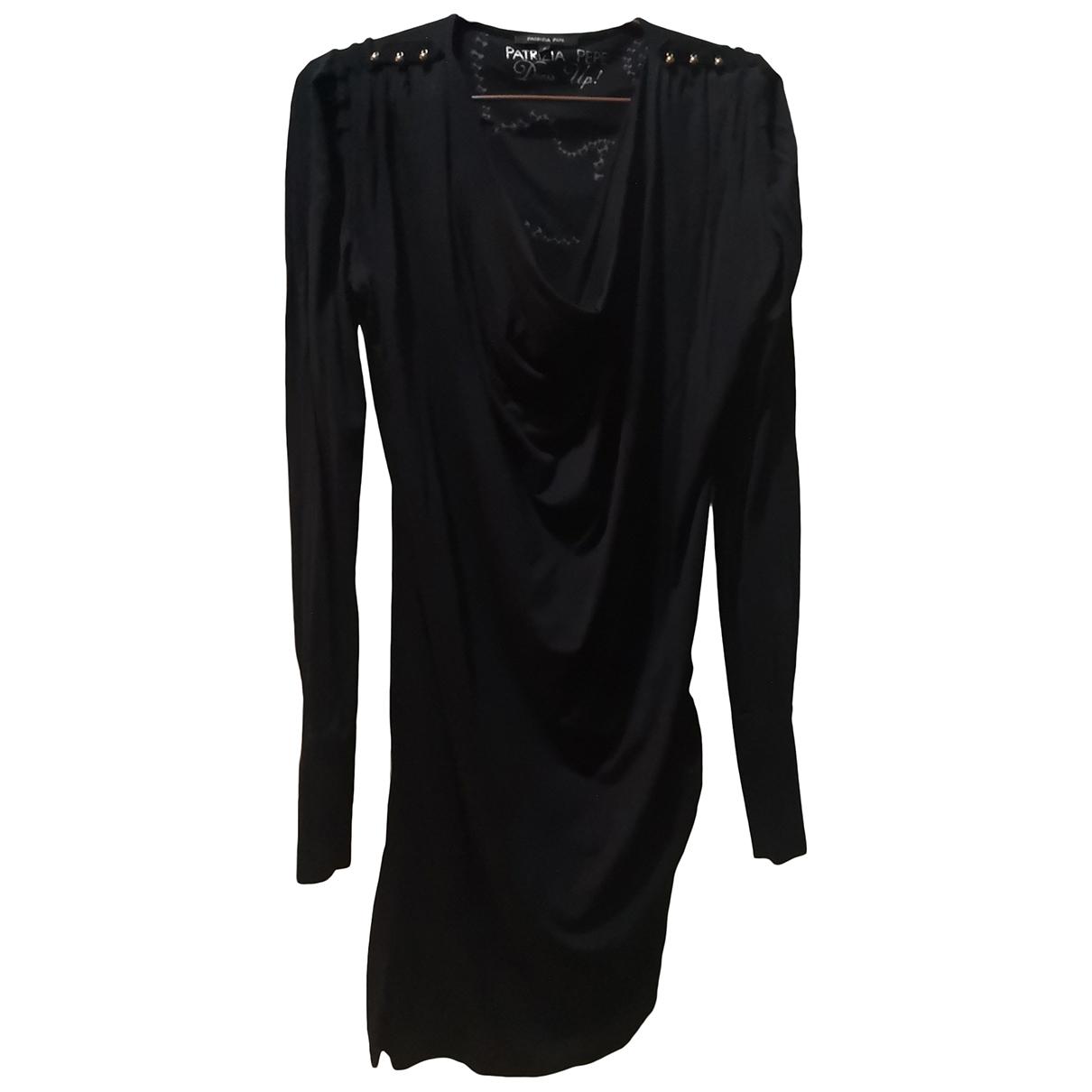 Patrizia Pepe \N Kleid in  Schwarz Viskose