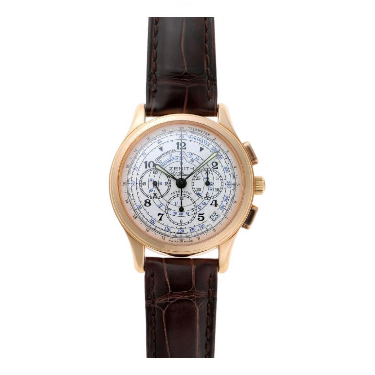 Zenith El Primero  Uhr in  Schwarz Rosegold