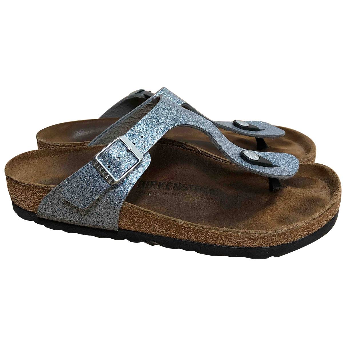 Birkenstock \N Silver Leather Sandals for Women 4.5 UK