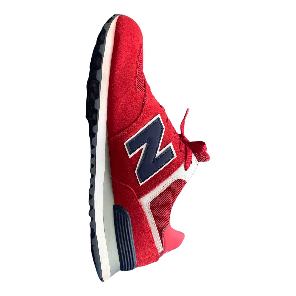New Balance - Baskets   pour homme en toile - rouge