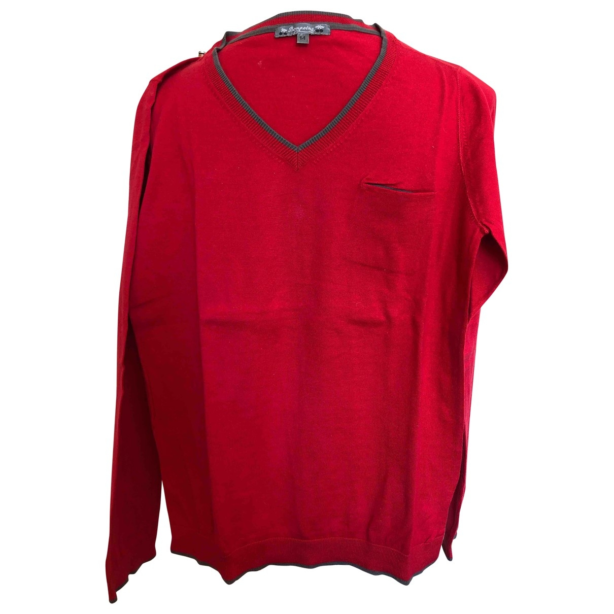 Bonpoint \N Red Cotton  top for Kids 14 years - S FR