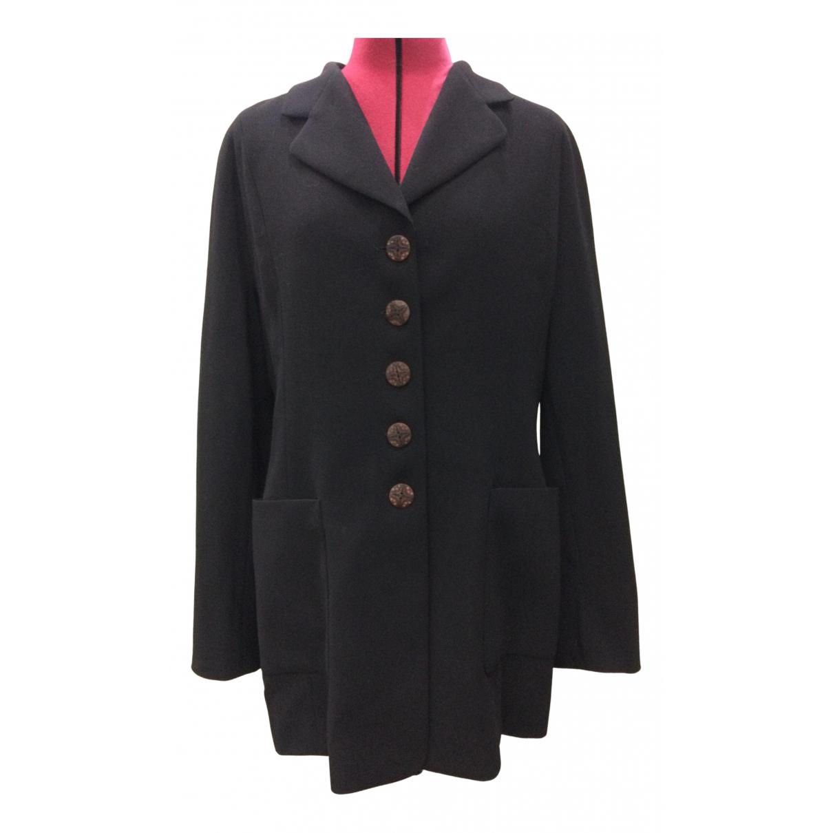Escada N Black Wool jacket for Women 44 FR