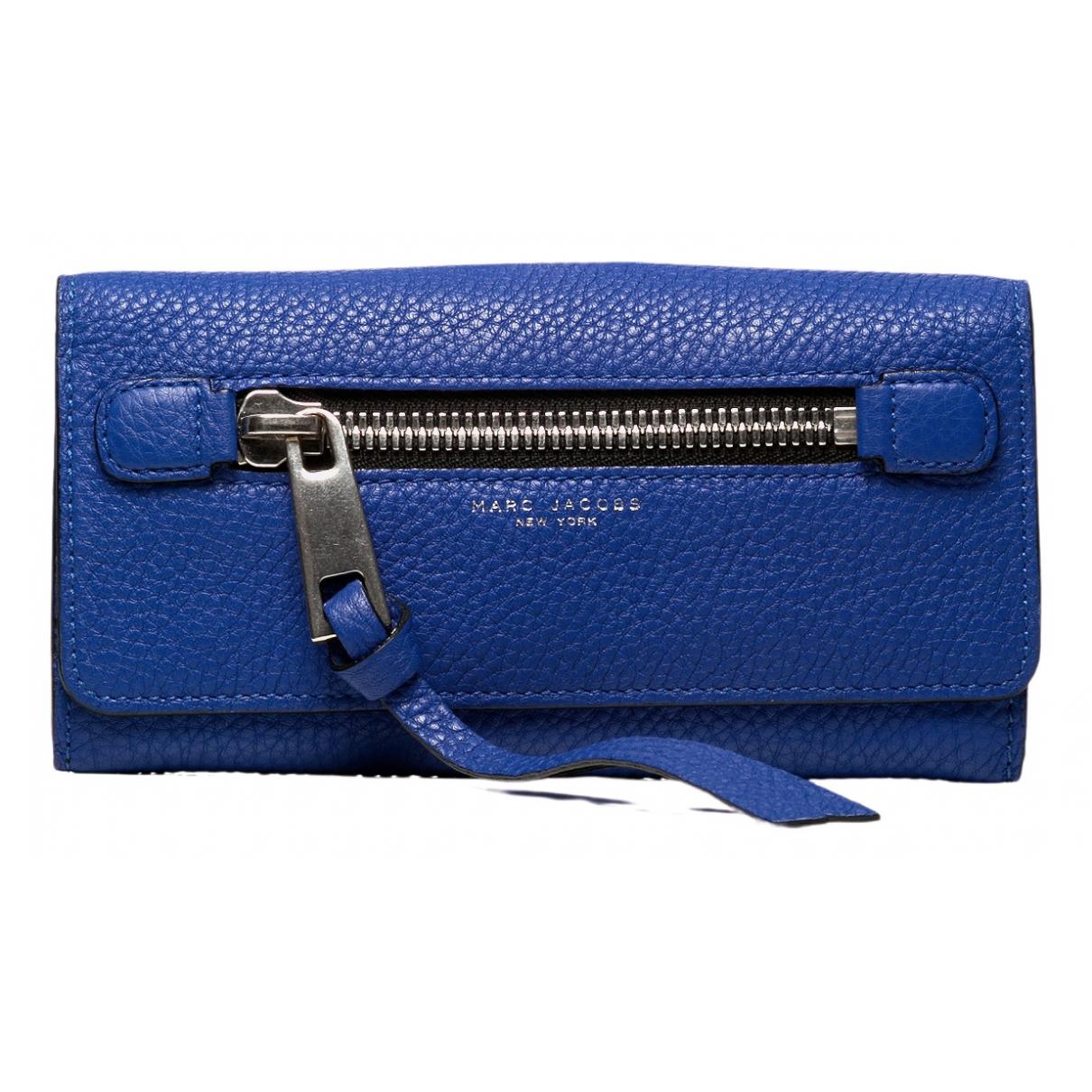 Marc Jacobs - Portefeuille   pour femme en cuir - bleu