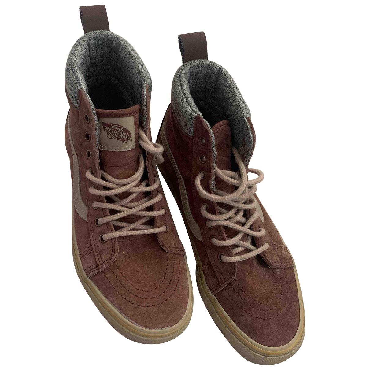 Vans \N Sneakers in  Braun Veloursleder