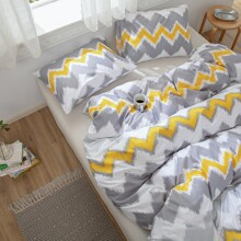 Chevron Pattern Bedding Set Without Filler