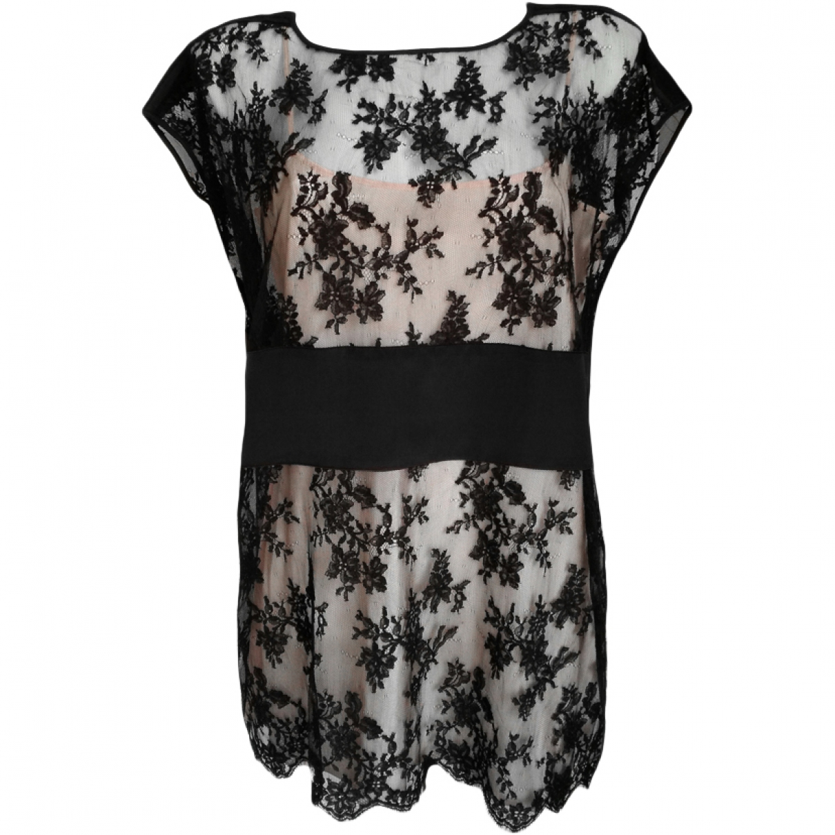 Valentino Garavani \N Black Cotton dress for Women 46 IT