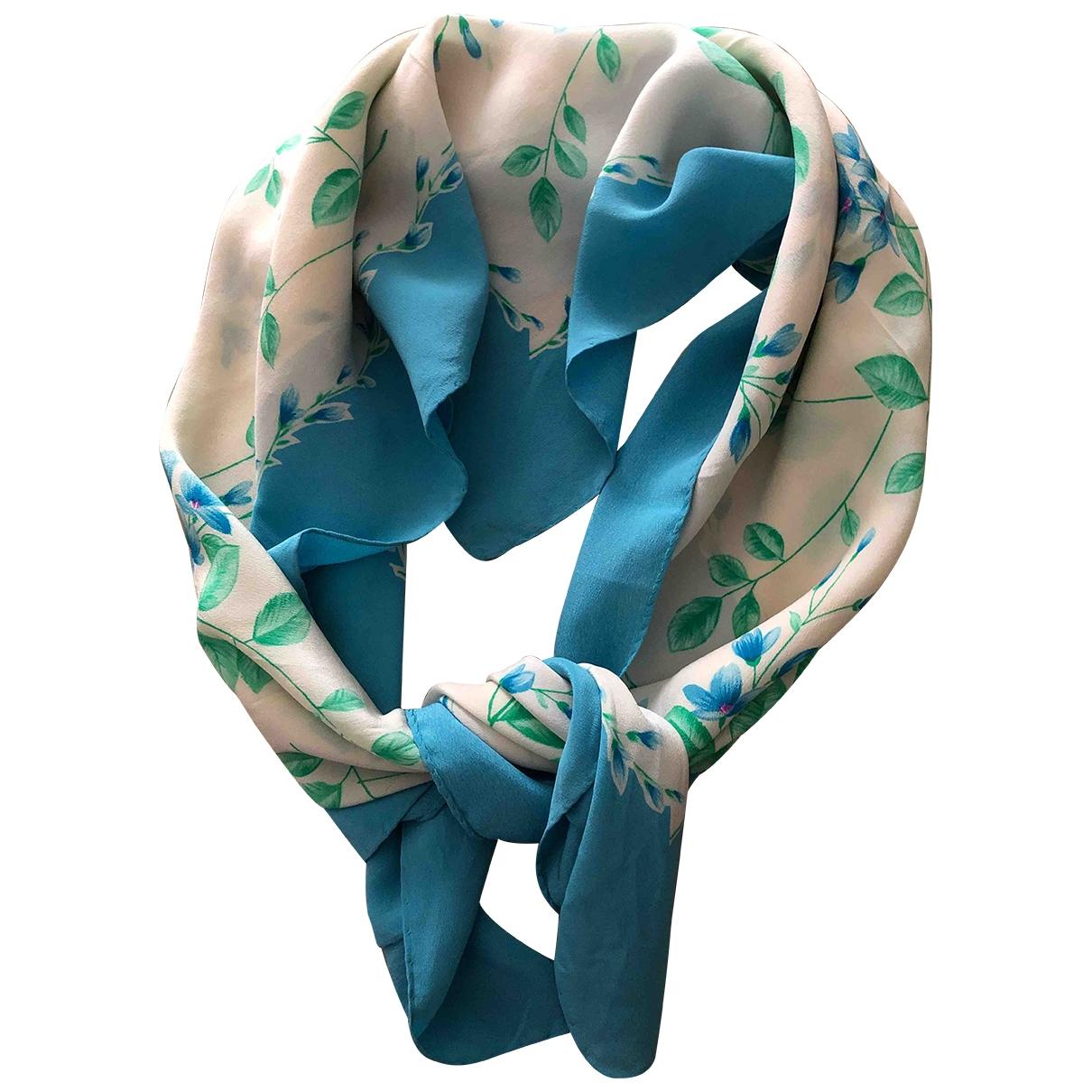 Valentino Garavani - Foulard   pour femme en soie - turquoise