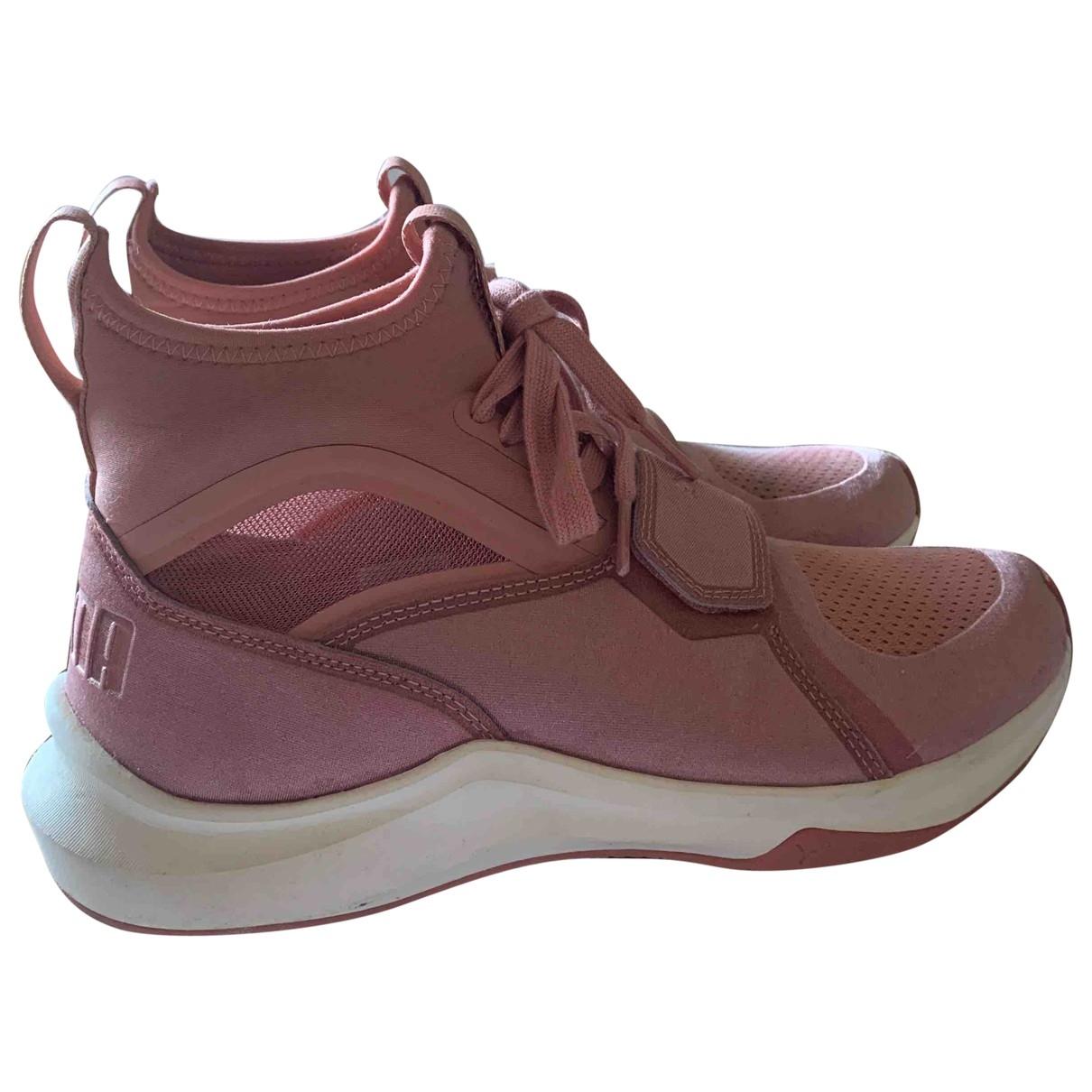 Puma \N Pink Cloth Trainers for Women 38 EU