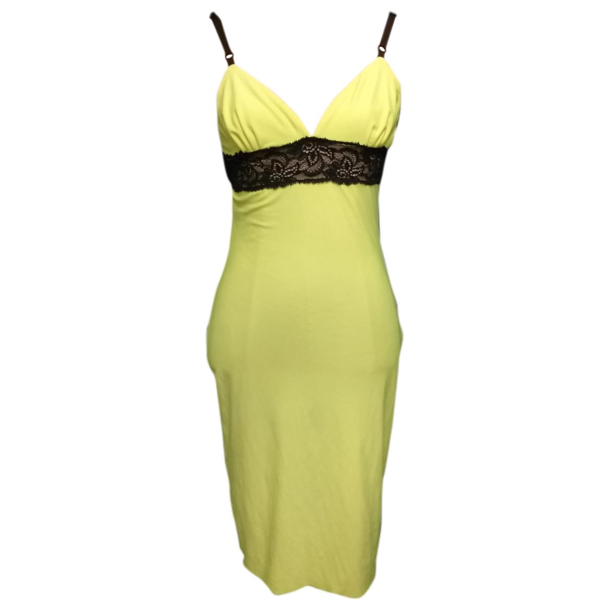 D&g \N Kleid in  Gelb Polyester