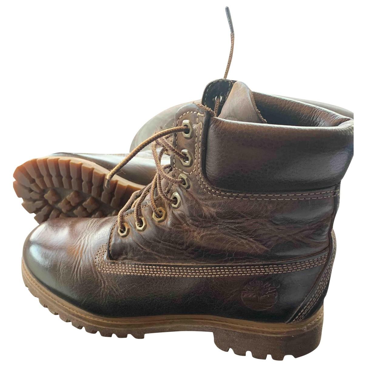 Timberland \N Stiefel in  Braun Leder