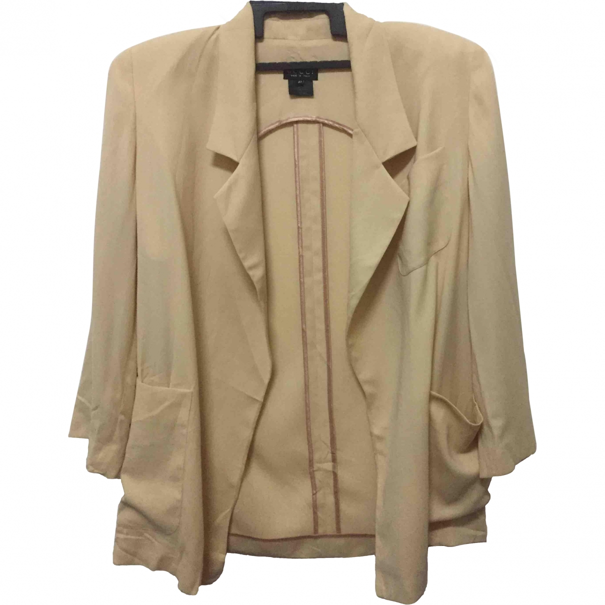 Gucci \N Gold Wool Trench coat for Women 40 IT