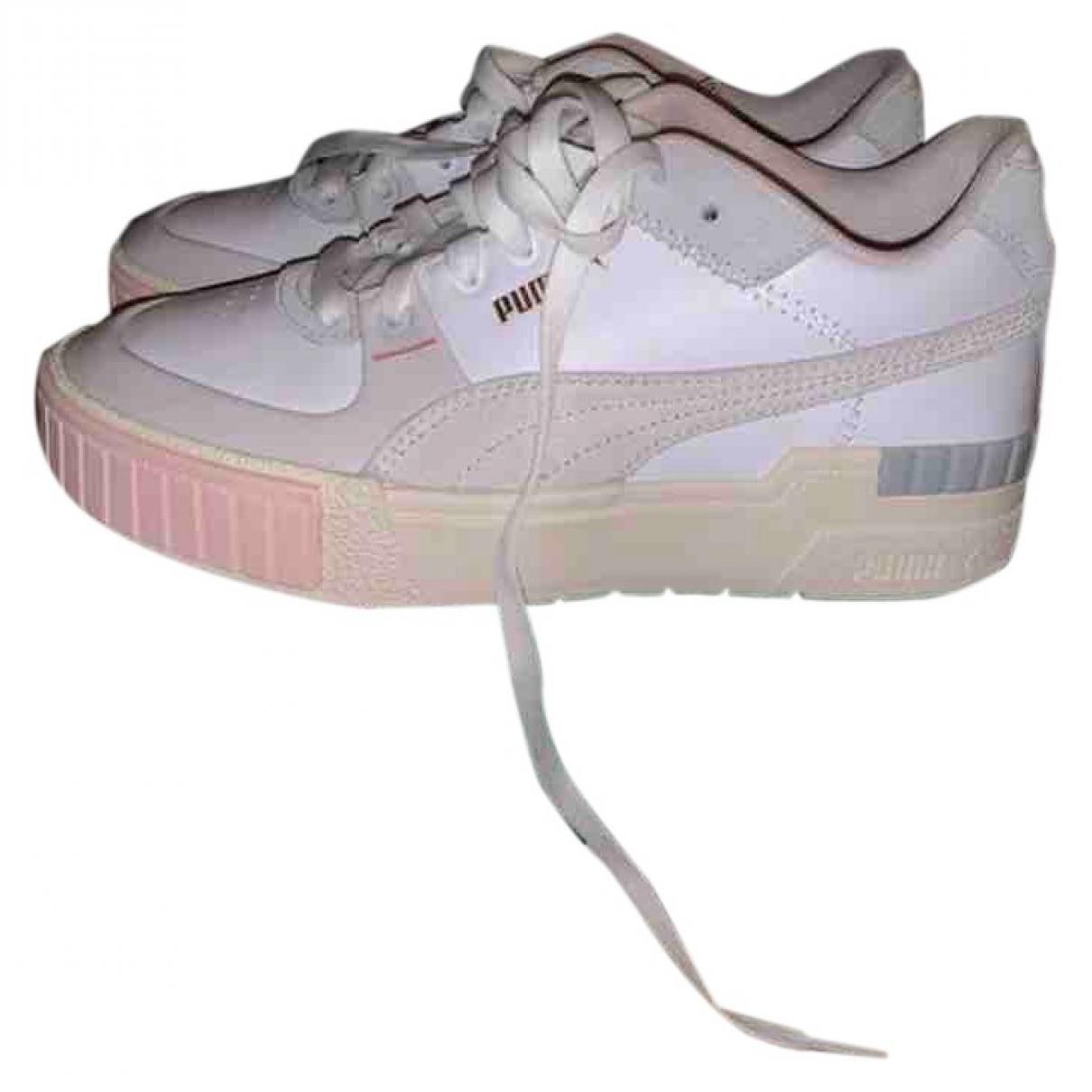 Puma - Baskets   pour femme en cuir - blanc