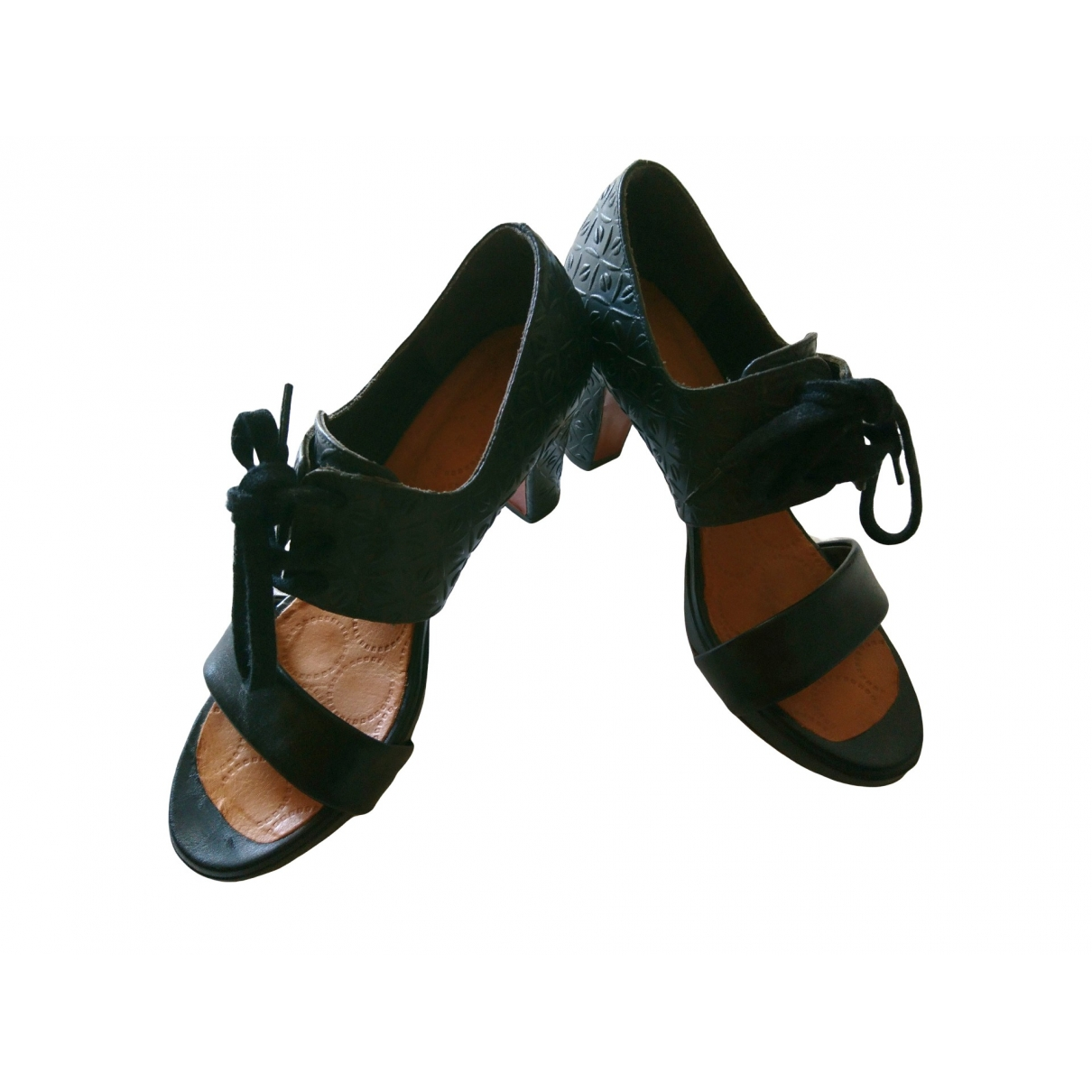 Chie Mihara \N Black Leather Sandals for Women 38 EU
