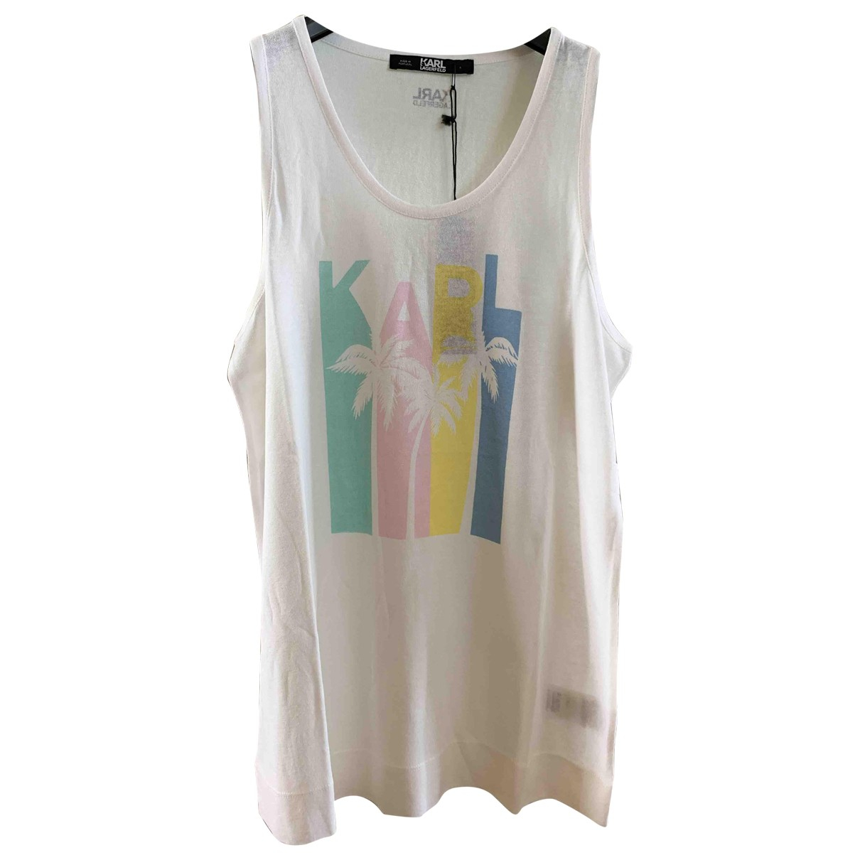 Karl Lagerfeld - Top   pour femme - blanc