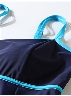 Female Solid Color Free Wire Swimwear with Falsies Push-up Tankini