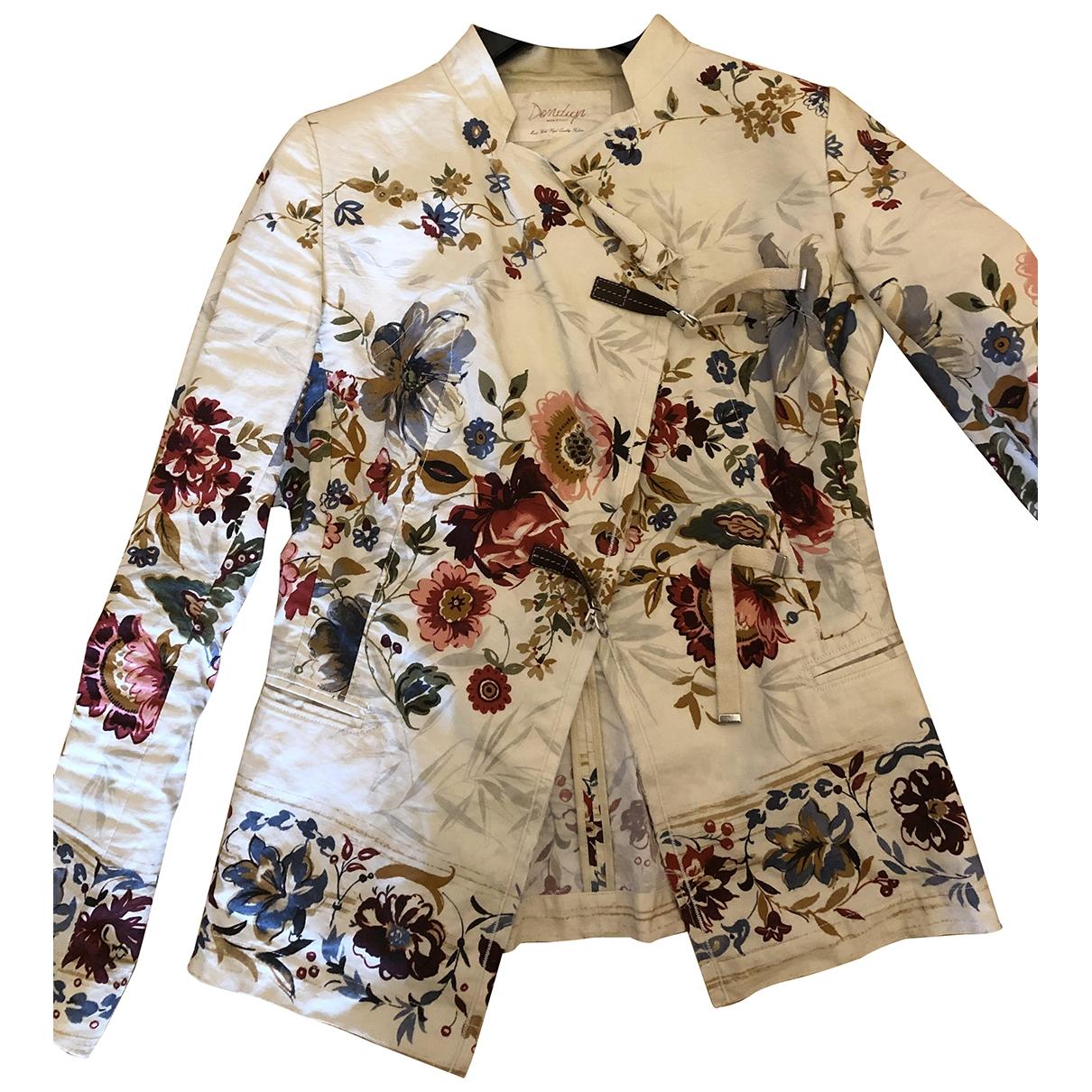 Dondup - Veste   pour femme en coton - multicolore