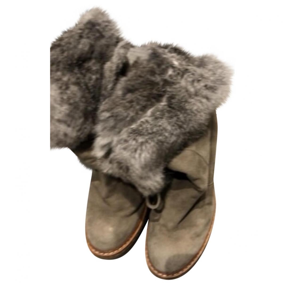 Ash - Boots   pour femme en toile - argente