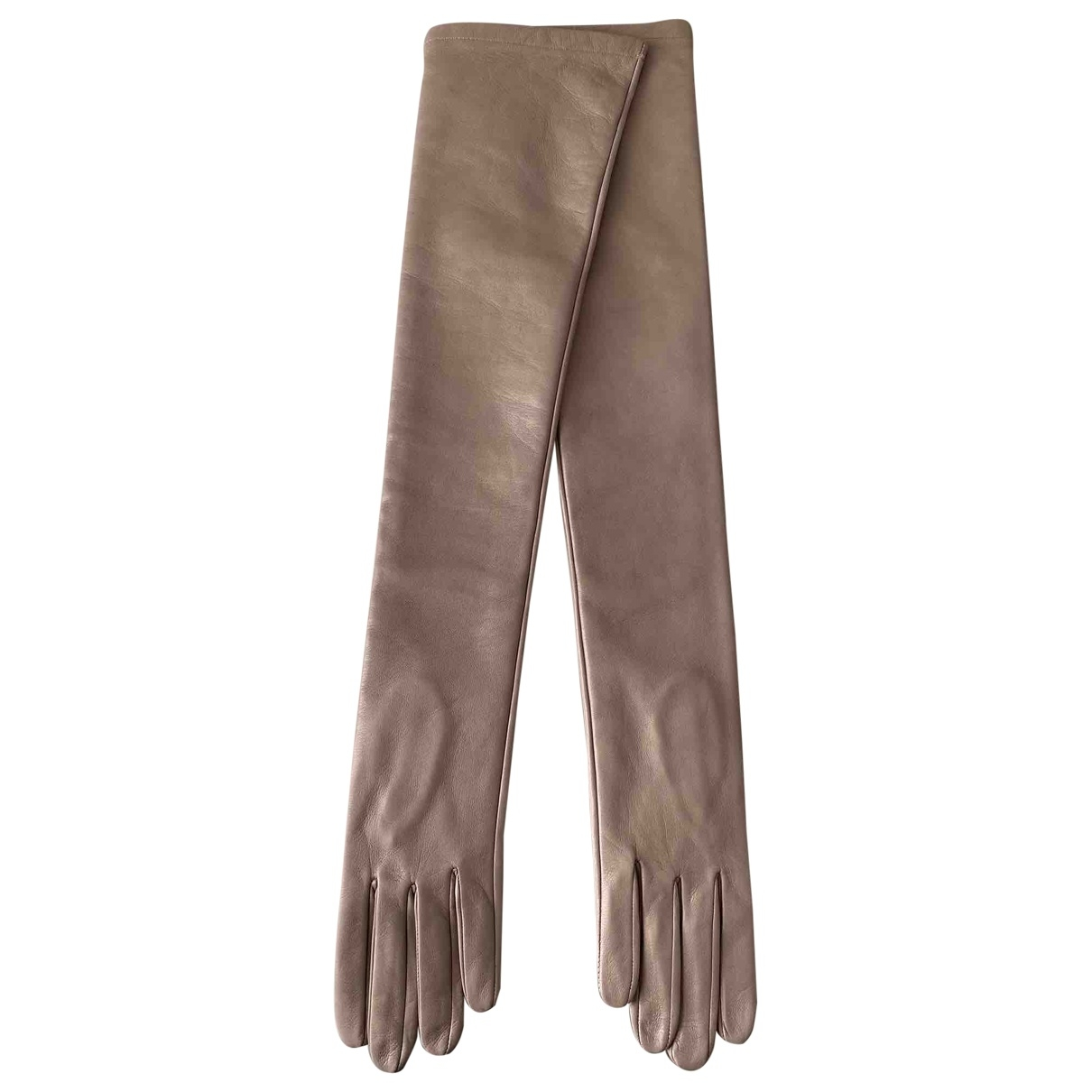 N°21 \N Handschuhe in  Beige Leder