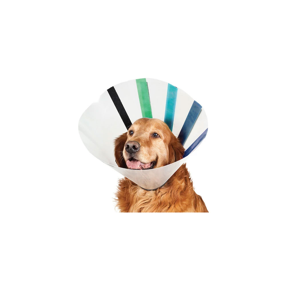 VetOne Easy Fit Color-Coded Velcro E-Collar, X-large, 16