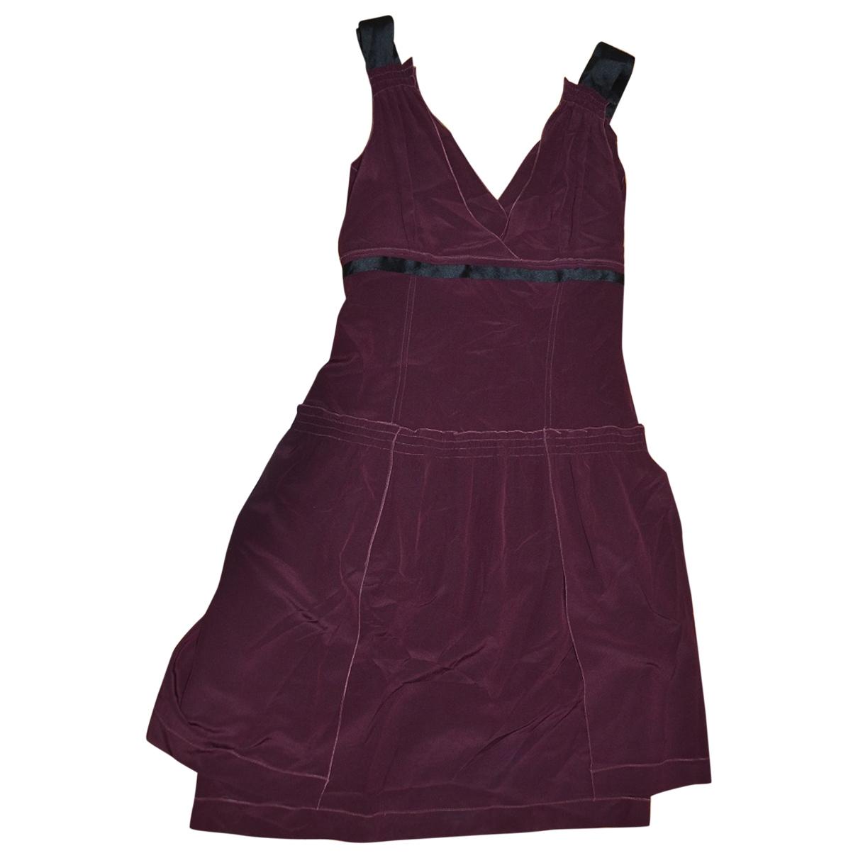 Miu Miu \N Kleid in  Bordeauxrot Seide