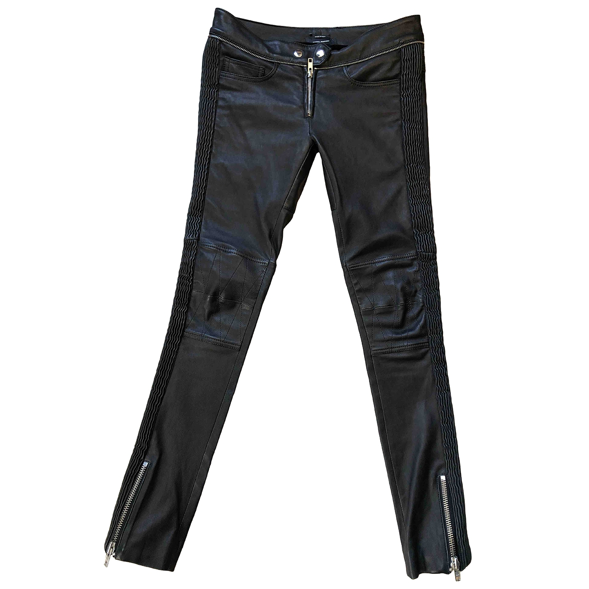 Isabel Marant \N Black Leather Trousers for Women 34 FR