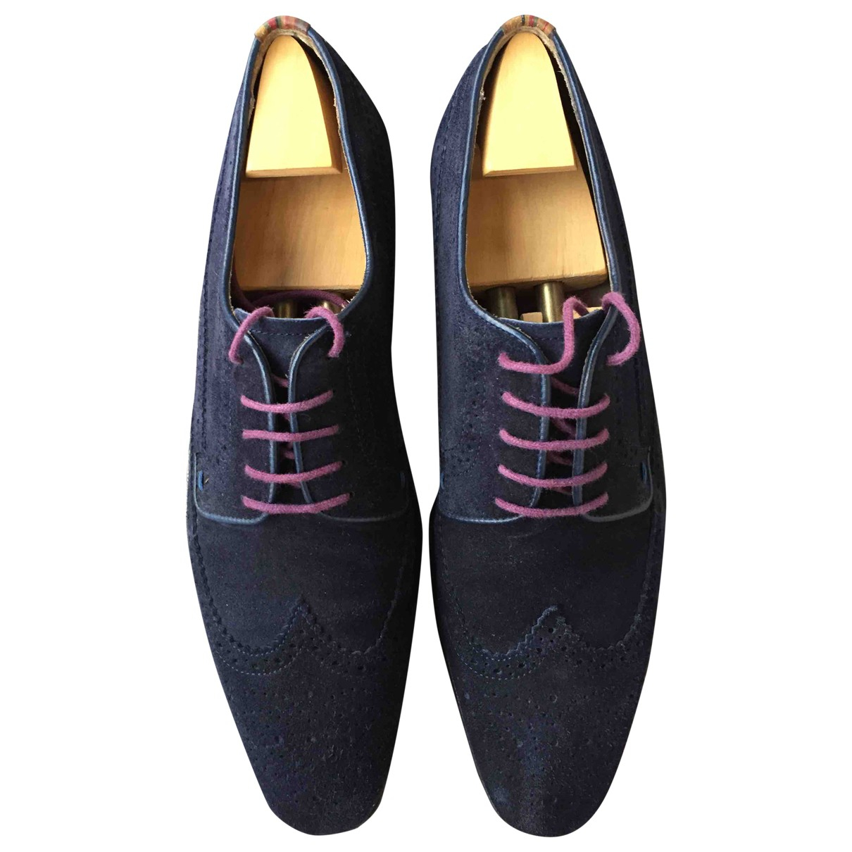 Paul Smith \N Schnuerschuhe in  Marine Veloursleder