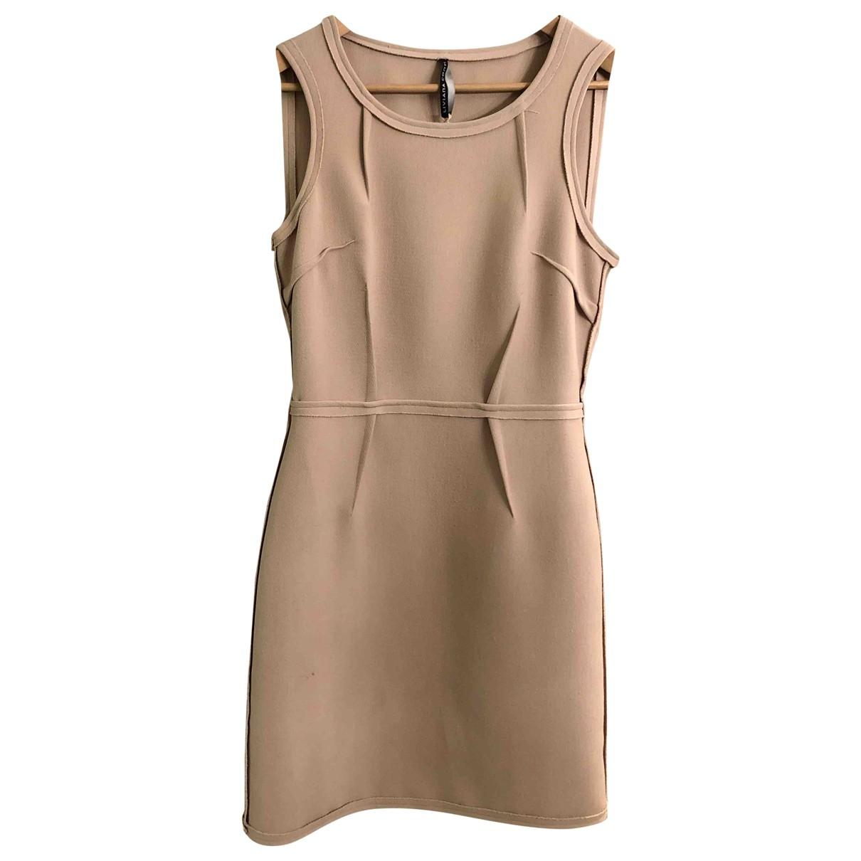 Liviana Conti \N Kleid in  Beige Polyester