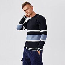 Pullover mit Cut And Sew und Streifen