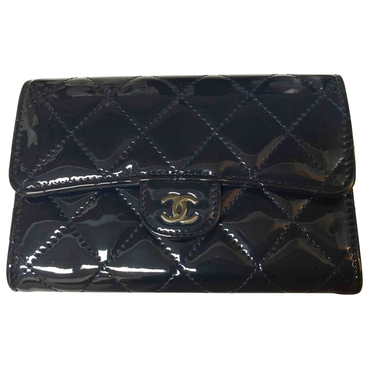 Chanel Timeless/Classique Navy Patent leather wallet for Women \N