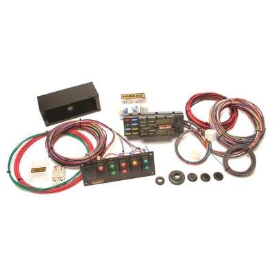 Painless Wiring 10 Circuit Race Only Chassis Harness with Switch Panels - 50005