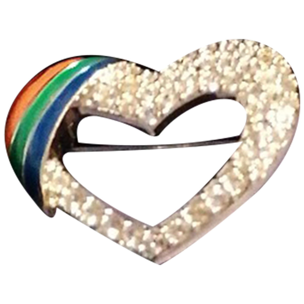 Swarovski - Broche   pour femme en metal - multicolore