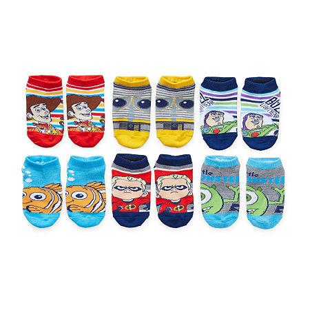 Little Boys 6 Pair No Show Socks, 4-6 , Blue