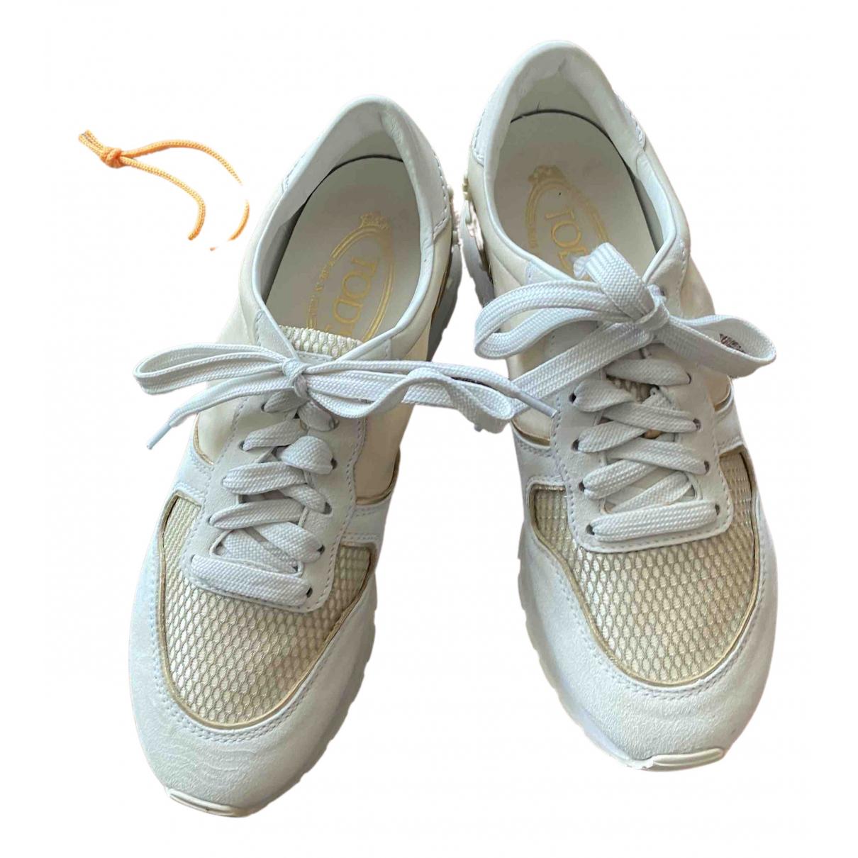Tods - Baskets   pour femme en cuir - beige
