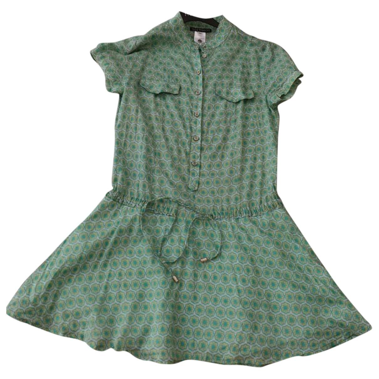 Patrizia Pepe \N Kleid in  Gruen Baumwolle