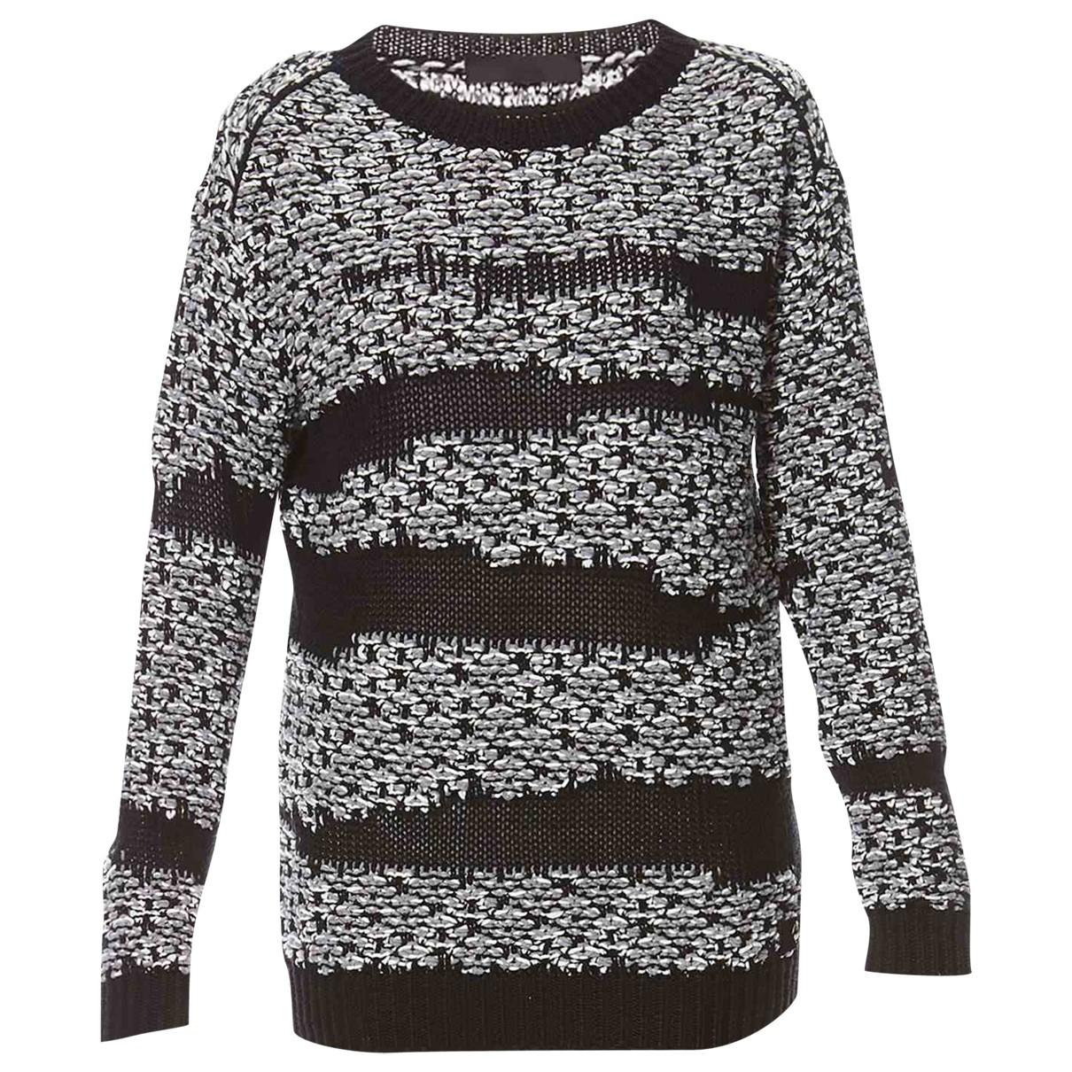 Karl \N Pullover in  Schwarz Wolle