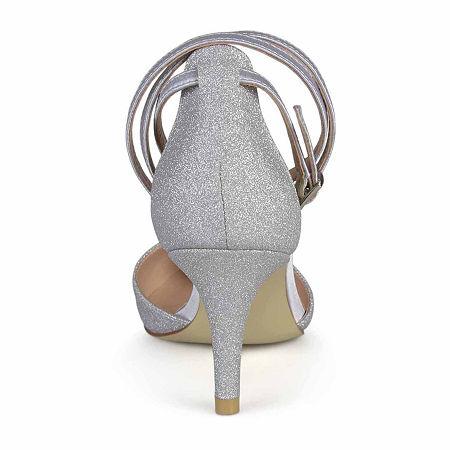 Journee Collection Womens Luela Pumps Stiletto Heel, 7 Medium, Silver
