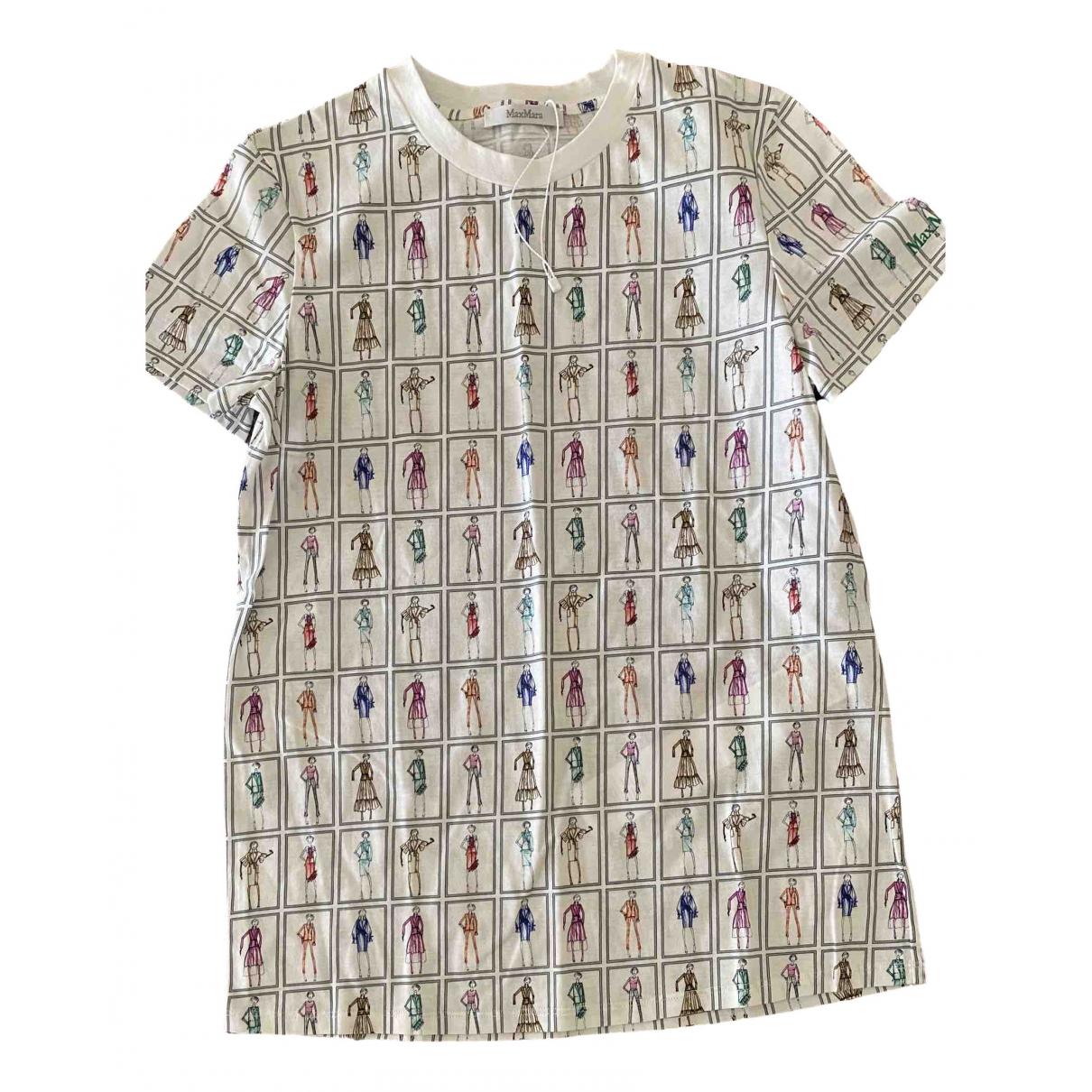 Max Mara - Top   pour femme en coton - blanc