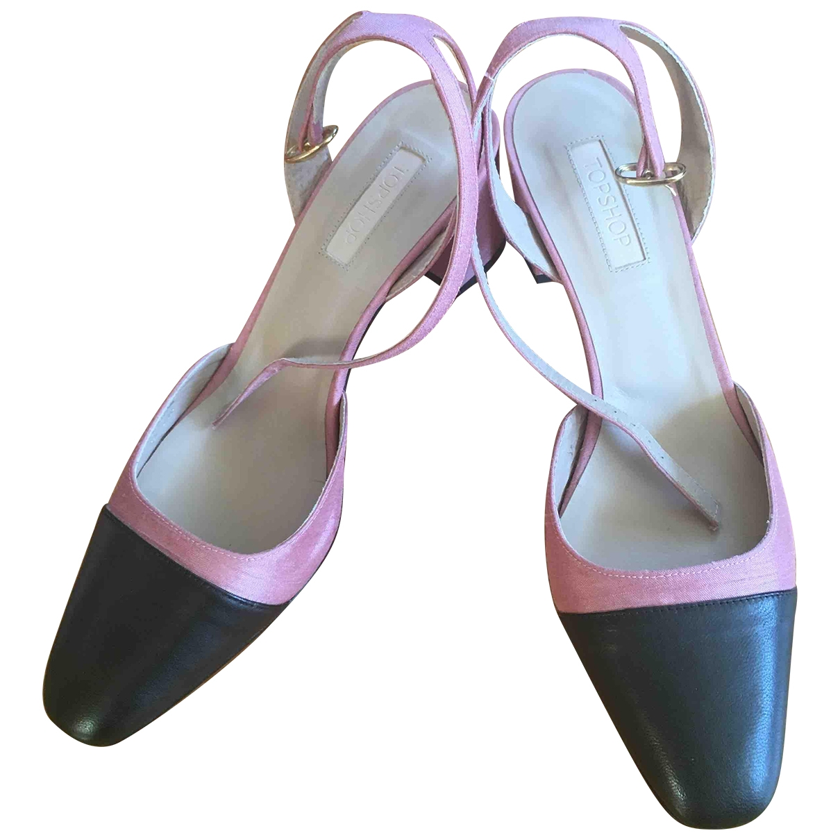 tophop \N Pink Cloth Heels for Women 41 EU