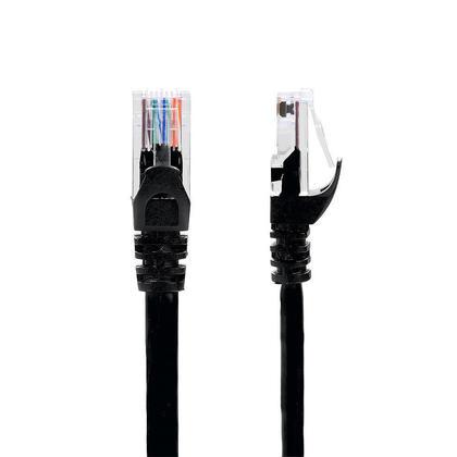 Câble réseau Ethernet de haute qualité Cat6 550MHz UTP RJ45, 6 pieds, noir - PrimCables® - 1/paquet