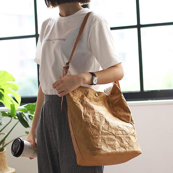 Women Ladies Large Capacity Pure Color Handbag Crossbody Bag Shopping Bag