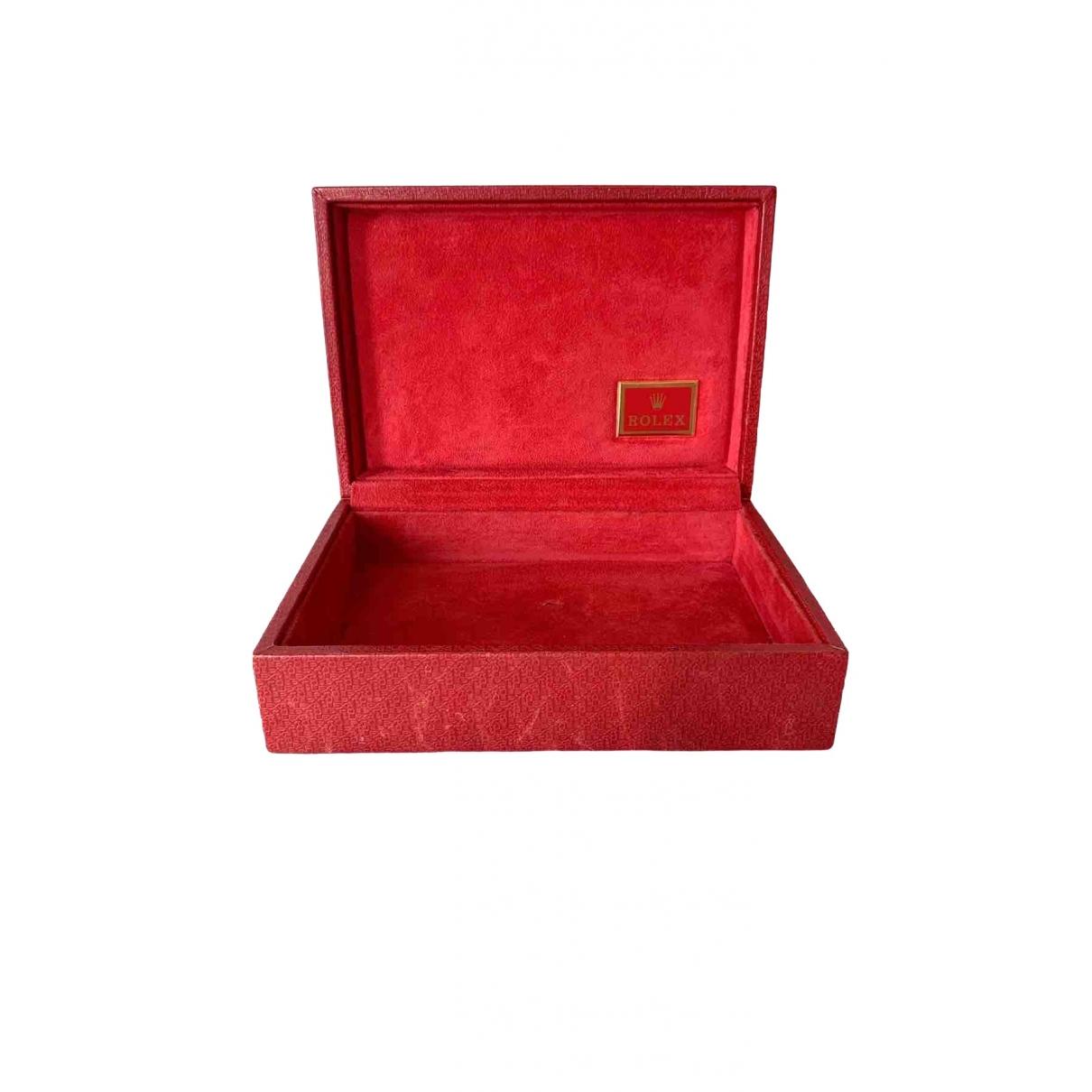Rolex - Objets & Deco   pour lifestyle en cuir - rouge