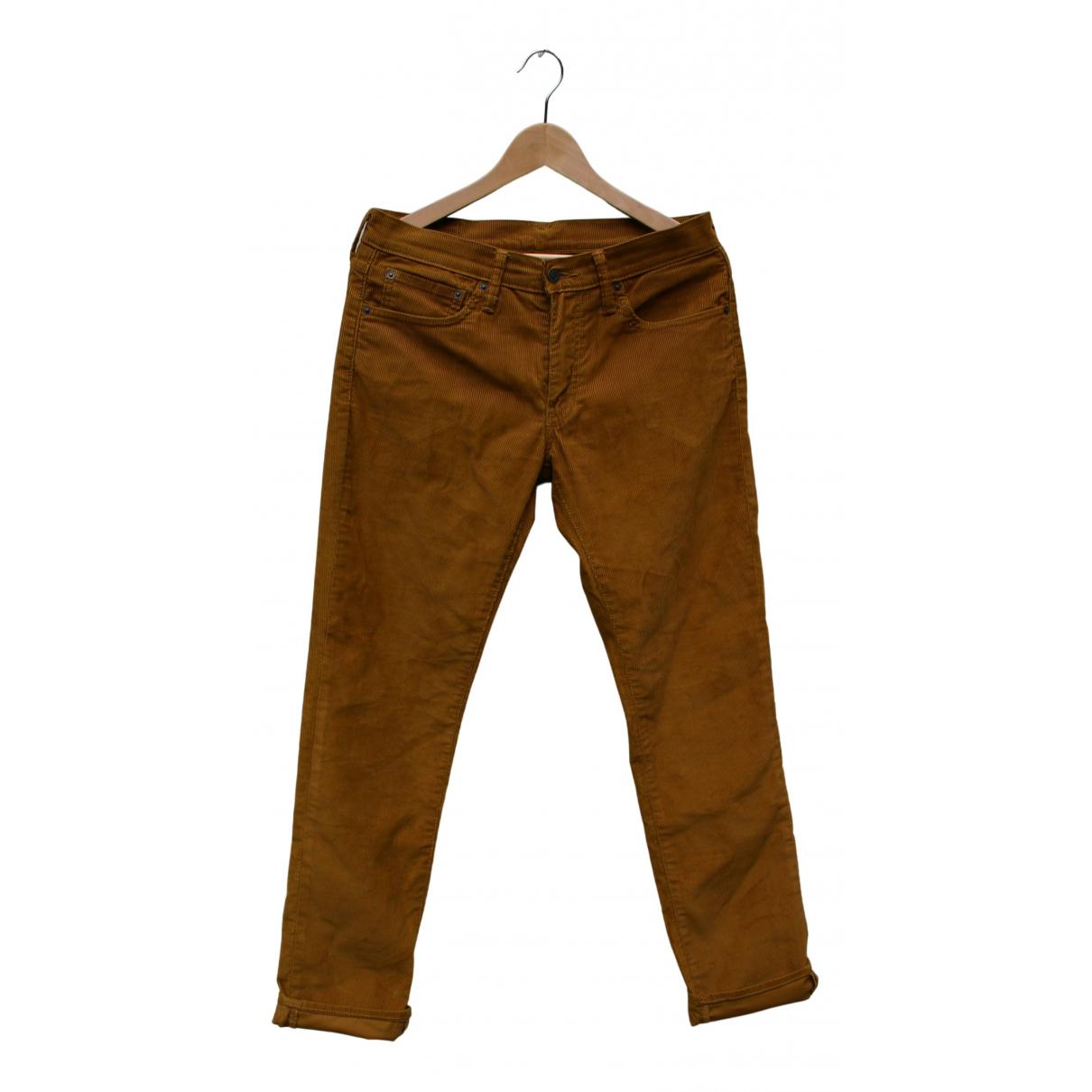 Levi's N Camel Cotton Trousers for Men 32 UK - US