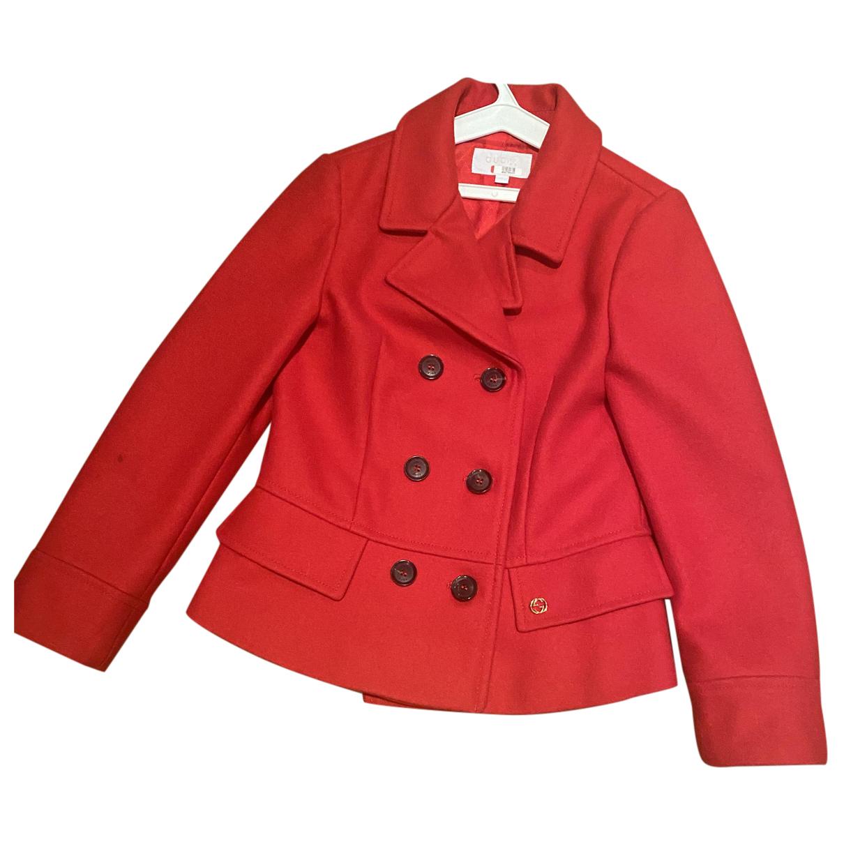 Gucci - Blousons.Manteaux   pour enfant en laine - rouge