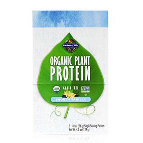 Organic Plant Protein Smooth Vanilla 5 oz by Garden of Life