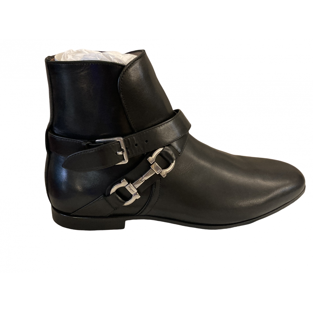 Salvatore Ferragamo \N Black Leather Boots for Men 6.5 UK