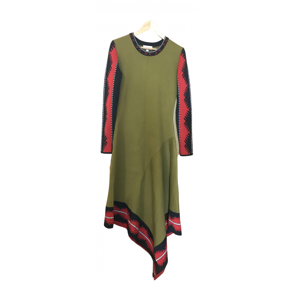 Temperley London \N Kleid in  Khaki Viskose
