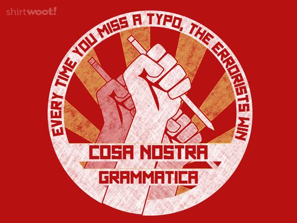 Cosa Nostra Grammatica T Shirt