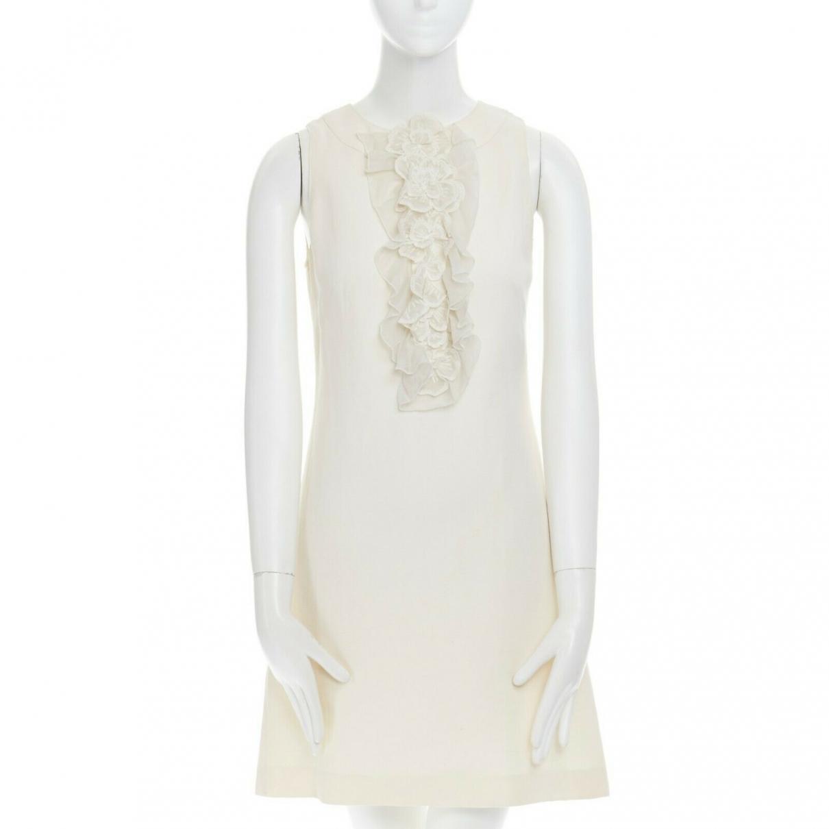 Andrew Gn \N Ecru Linen dress for Women 34 FR